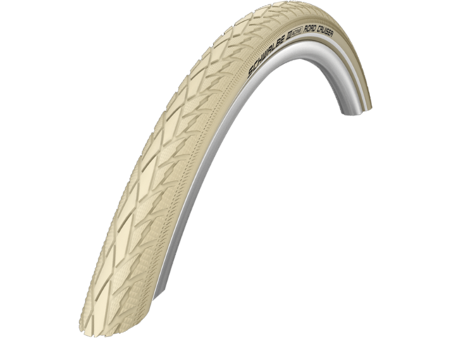 "SCHWALBE Road Cruiser Wired-on Tire 28"" K-Guard Active Reflex, creme"